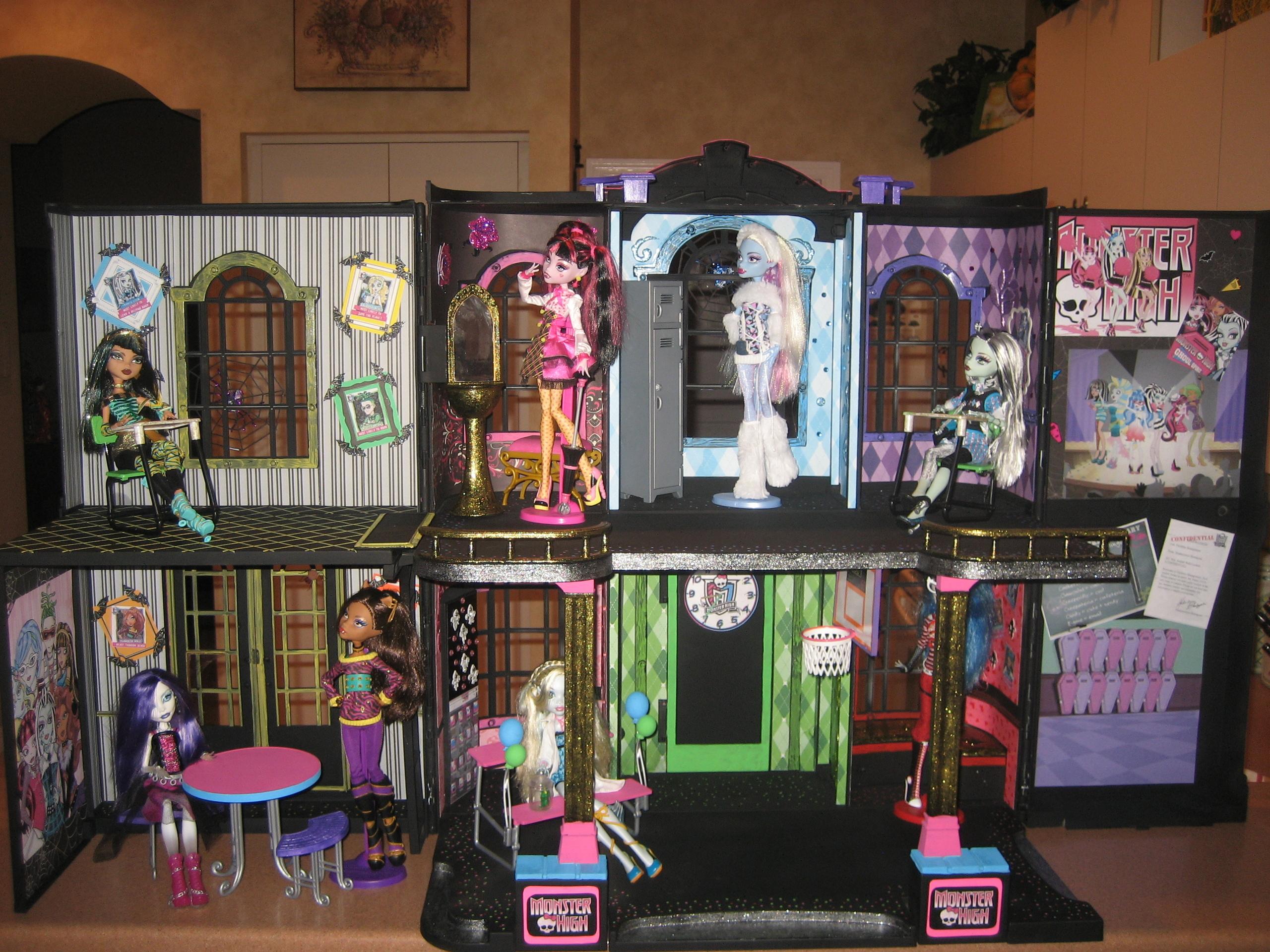 Дом для кукол монстер хай своими руками